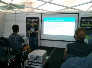 Presenting at Droidcon UK 2013