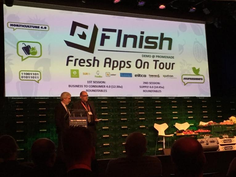 EU Director Future Internet presenting Fresh App, including our Babbler smart seal
